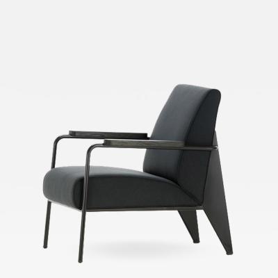 Jean Prouv Vitra Fauteuil De Salon Armchair in Black by Jean Prouv