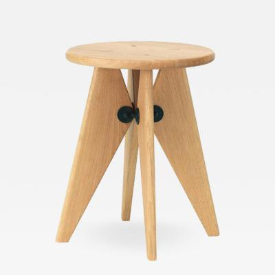 Jean Prouv Vitra Tabouret Solvay Stool in Natural Oak by Jean Prouv