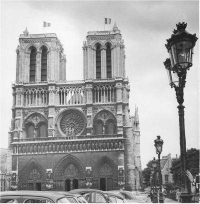 Jean Ribi re 1954 Cath drale Notre de Dame Paris Jean Ribi re