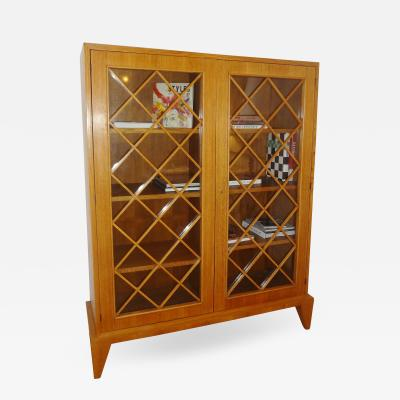 Jean Roy re Exceptional Oak Bookcase by Jean Royere 1948