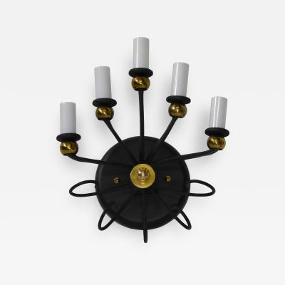 Jean Roy re Italian Five Light Sconce in the Manner of Royere 1950s