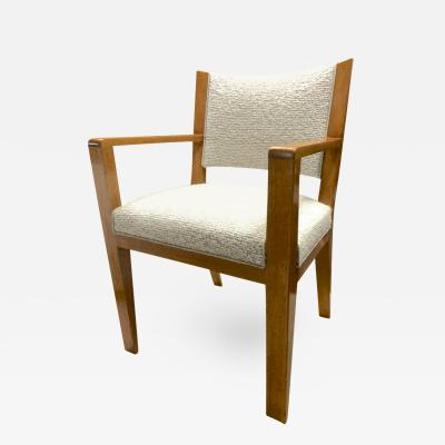 Jean Roy re Jean Roy re Desk Armchair Newly Reupholstered in Maharam Boucl