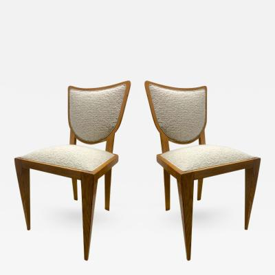 Jean Roy re Jean Roy re Documented Pair of Chairs Newly Upholstered in Maharam Boucl