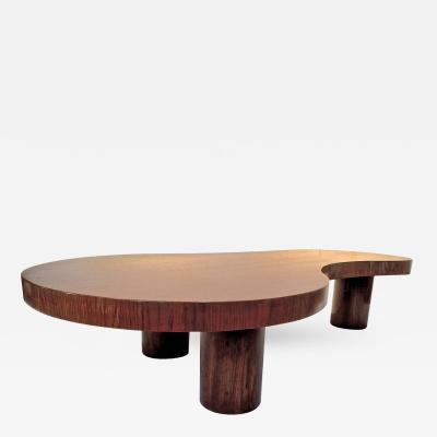 Jean Roy re Jean Roy re Genuine and Documented Oak Coffee Table Model Flaque