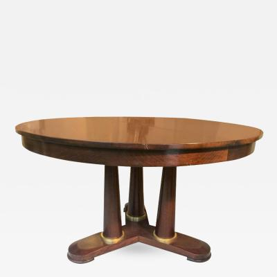 Jean Roy re Jean Roy re genuine Tripod Round Dinning Table with Tri Pedestal Base