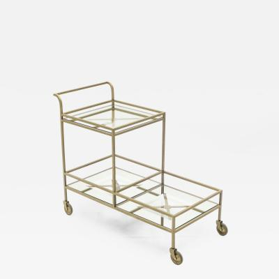 Jean Roy re Jean Roy re serving trolley gilded metal mirrored glass 1950