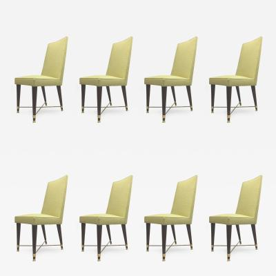 Jean Roy re Jean Royere Documented Exceptional Set of Chicest Eight Dining Chairs
