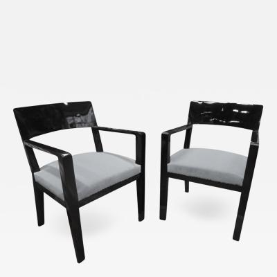 Jean Roy re Jean Royere Documented Genuine Pair of Chairs