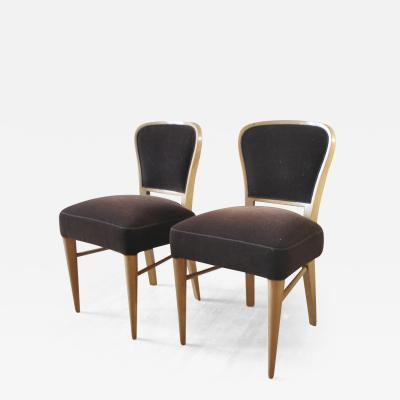 Jean Roy re Jean Royere Documented Pair of Chairs model Restaurant Drouant