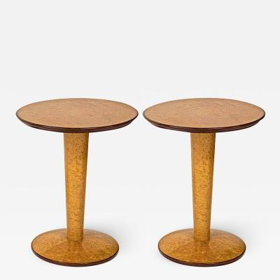 Jean Roy re Jean Royere attributed pair of extreme quality side tables