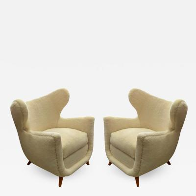 Jean Roy re Jean Royere genuine documented pair of Petit Elephanteau lounge chairs