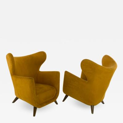 Jean Roy re Jean Royere pair of Petit Elephanteau chairs in genuine vintage condition