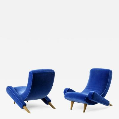 Jean Roy re Jean Royere pair of document lounge chairs model Varsano