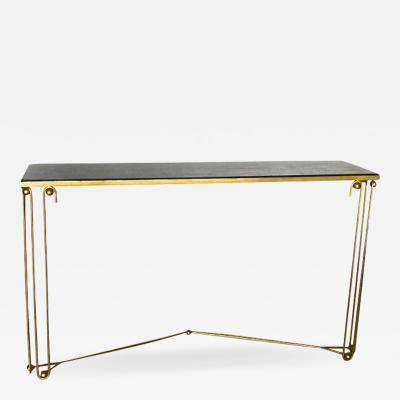 Jean Roy re Jean Royere rare documented gold leaf console model Ondulation