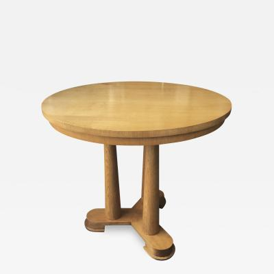 Jean Roy re Jean Royere rarest genuine oak small dinning table or central table