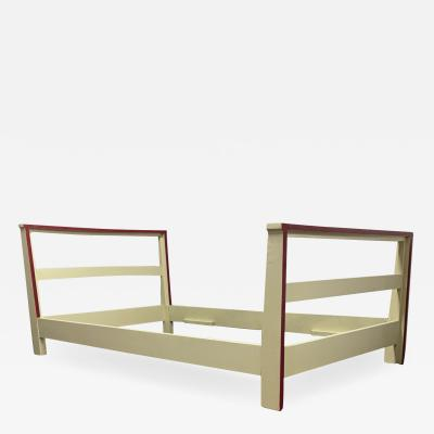 Jean Roy re Jean Royere raw white lacquered day bed