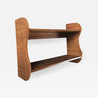 Jean Roy re Jean Royere vintage rarest wave oak 2 tier shelve