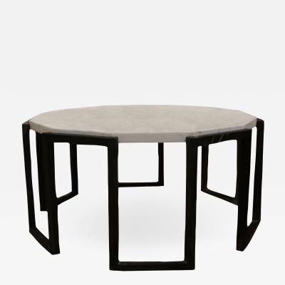 Jean Roy re Marble Wrought Iron Table