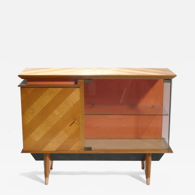 Jean Roy re Mid century french modernist cabinet vaisselier 1950s