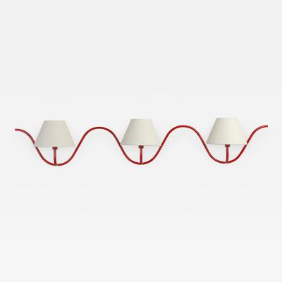 Jean Roy re ONDULATION triple wall sconce by Jean ROYERE