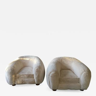 Jean Roy re Pair of Polar Chairs by Jean Royere