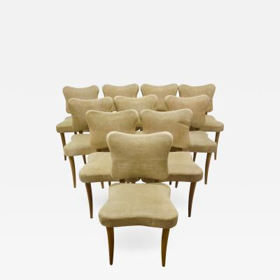 Jean Roy re Set of 10 Dining Chairs Attributed to Jean Royere
