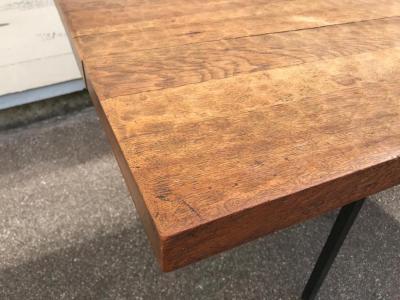 Jean Touret Jean Touret for Ateliers de Marolles longest rarest stamped dinning table