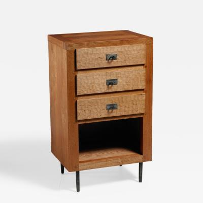 Jean Touret Jean Touret oak cupboard for Marolles France 1970s