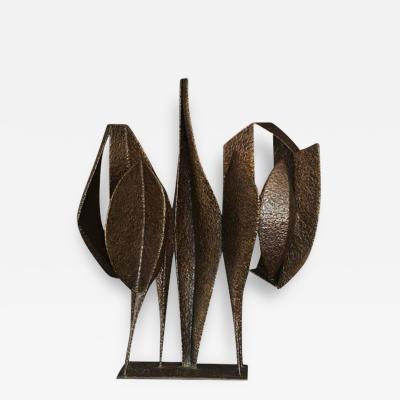 Jean Woodham Welded Bronze Sculpture Titled Reunion by Jean Woodham 1963