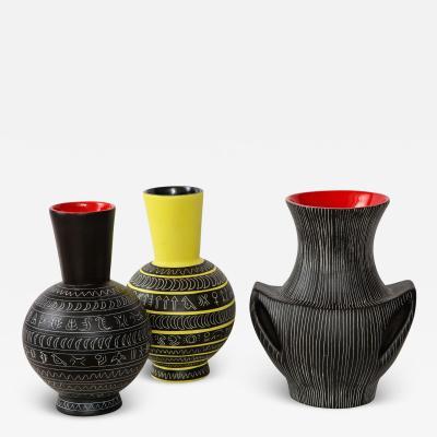 Jean de Lespinasse Set of three ceramic vases