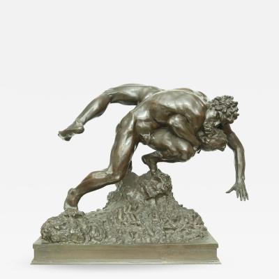 Jef Lambeaux Wrestlers Bronze Sculpture by Jef Lambeaux