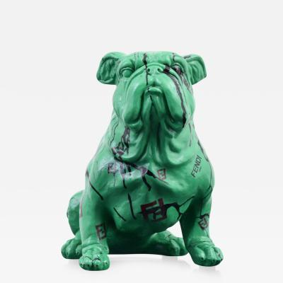 Jeff Diamond Fendi Couture Bulldog Sculpture Unique