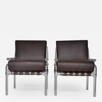 Jeff Messerschmidt Lucite Pair of 1000 Pipe Line Series Chairs by Jeff Messerschmidt