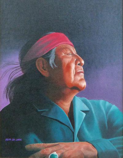 Jeff St John 1990s Southwestern Portrait by Jeff St John