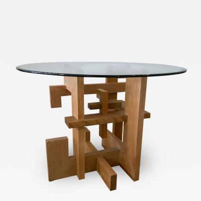 Jeffrey Greene American modern Dining Center table of 3 distinct woods Jeffrey Greene