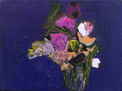 Jennifer Hornyak Deep Violet with Pink and White