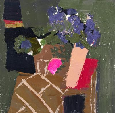 Jennifer Hornyak Hyacinth Blue with Black