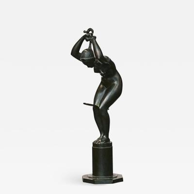 Jens Jacob Bregn JENS JAKOB BREGN ART DECO BRONZE SCULPTURE CIRCA 1930S