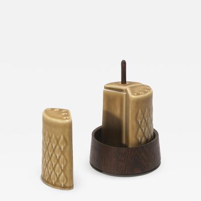 Jens Quistgaard Ceramic and Wenge Cluster Set by Jens Quistgaard