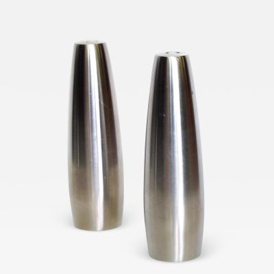 Jens Quistgaard DANSK Slim Stainless Steel Salt Pepper Shakers Odin by Jens Quistgaard 1970s