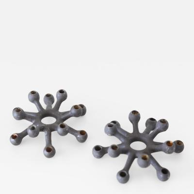 Jens Quistgaard Jens H Quistgaard for Dansk Danish Mid Century Modern Candle Holder a Pair