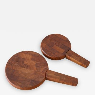 Jens Quistgaard Pair of Dansk Teak Cutting Board by Jens Quistgaard
