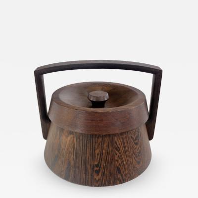 Jens Quistgaard Scadinavian Modern Rare Woods Ice Bucket by Jens Quistgaard for Dansk