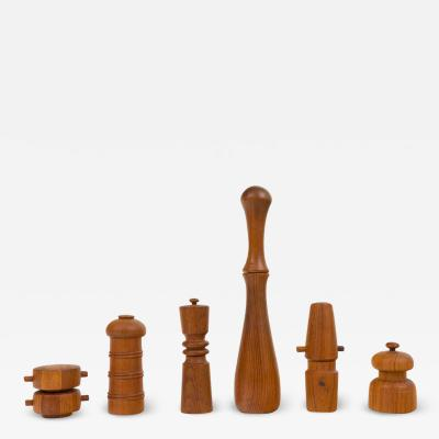 Jens Quistgaard Scandinavian Modern Pepper Mills Salt Shakers by Jens Quistgaard for Dansk