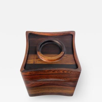 Jens Quistgaard Scandinavian Modern Rare Wood Icebucket by Jens Quistgaard for Dansk