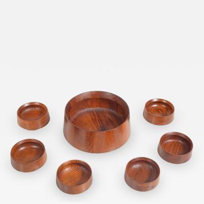 Jens Quistgaard Set of Seven Serving Bowls Designed by Jens Quistgaard for Dansk