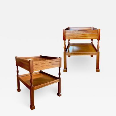 Jens Quistgaard Unique Pair of Lamp Tables by Jens Quistgaard