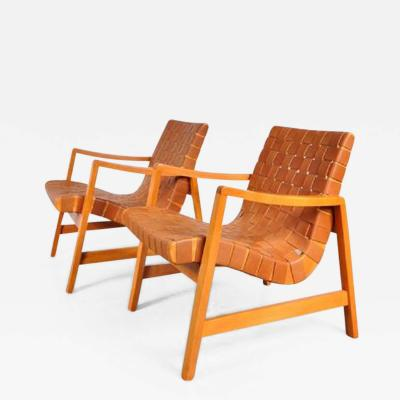 Jens Risom 1941s Pair of Two Vostra Easy Chairs by Jens Risom for Knoll USA
