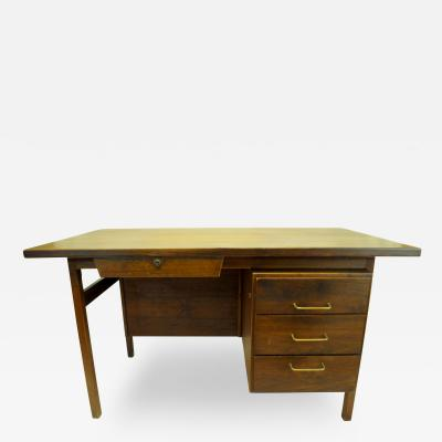 Jens Risom 1960s Walnut Desk by Jens Risom