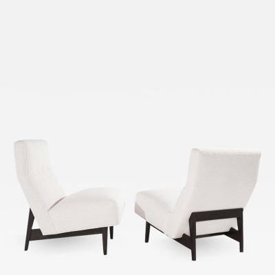 Jens Risom Classic Slipper Chairs by Jens Risom in Boucl circa 1950s